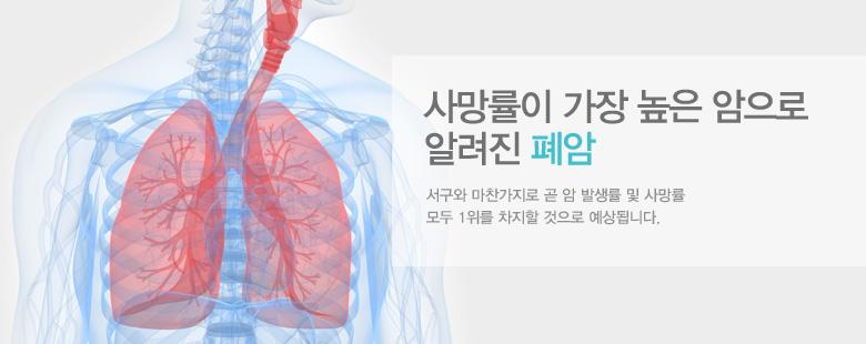 사망률이 가장 높은 암으로 알려진 폐암