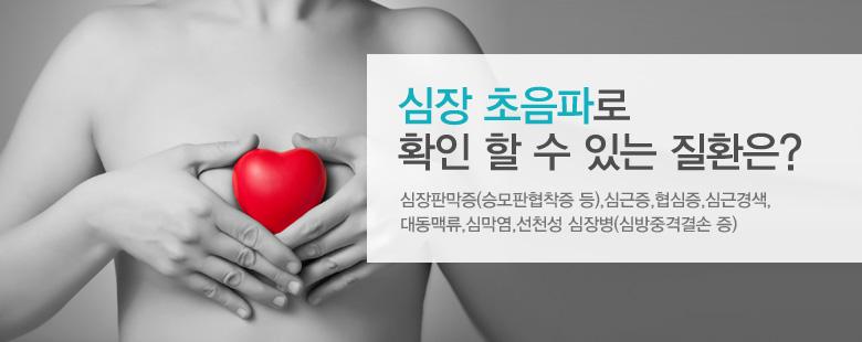 심장 초음파로 확인 할 수 있는 질환은?