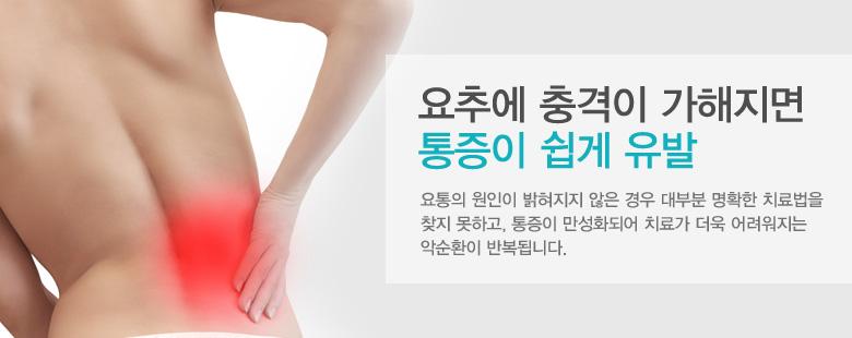 요추에 충격이 가해지면 통증이 쉽게 유발